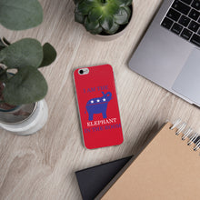 Load image into Gallery viewer, I am the Elephant in the Room Blue iPhone Case