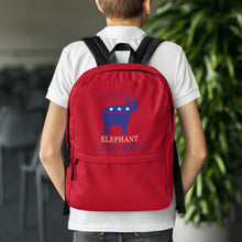 Load image into Gallery viewer, I am the Elephant in the Room Red Backpack