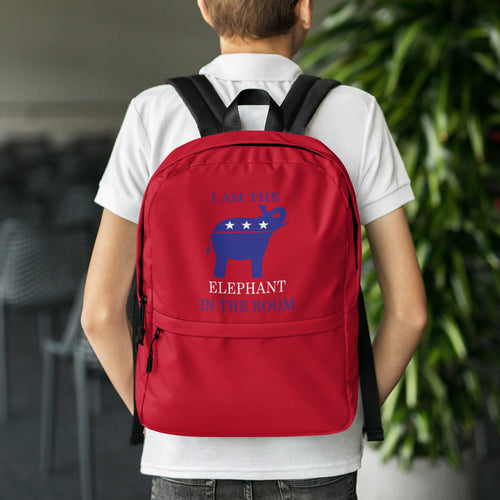 I am the Elephant in the Room Red Backpack