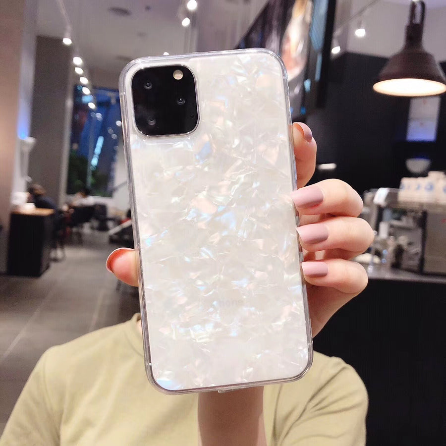 iPhone Anti-Impact Case—White marble(For iphone XR XS Max X 6 6S 7 8 Plus 11 11Pro Max)