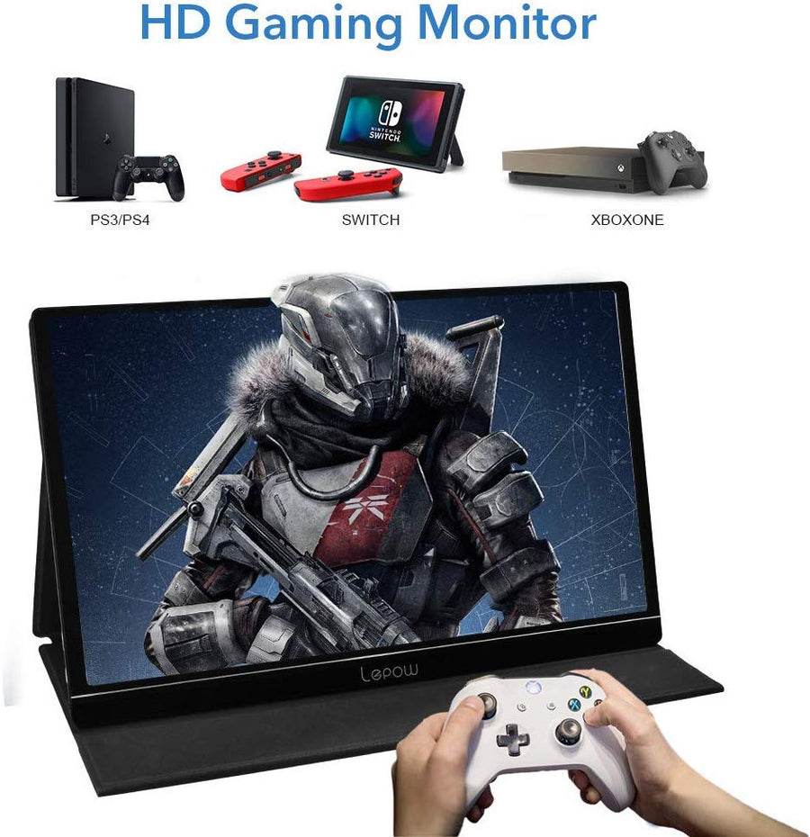 Portable Monitor-UFUNCASE Upgraded 15.6 Inch IPS HDR 1920 x 1080 FHD Display