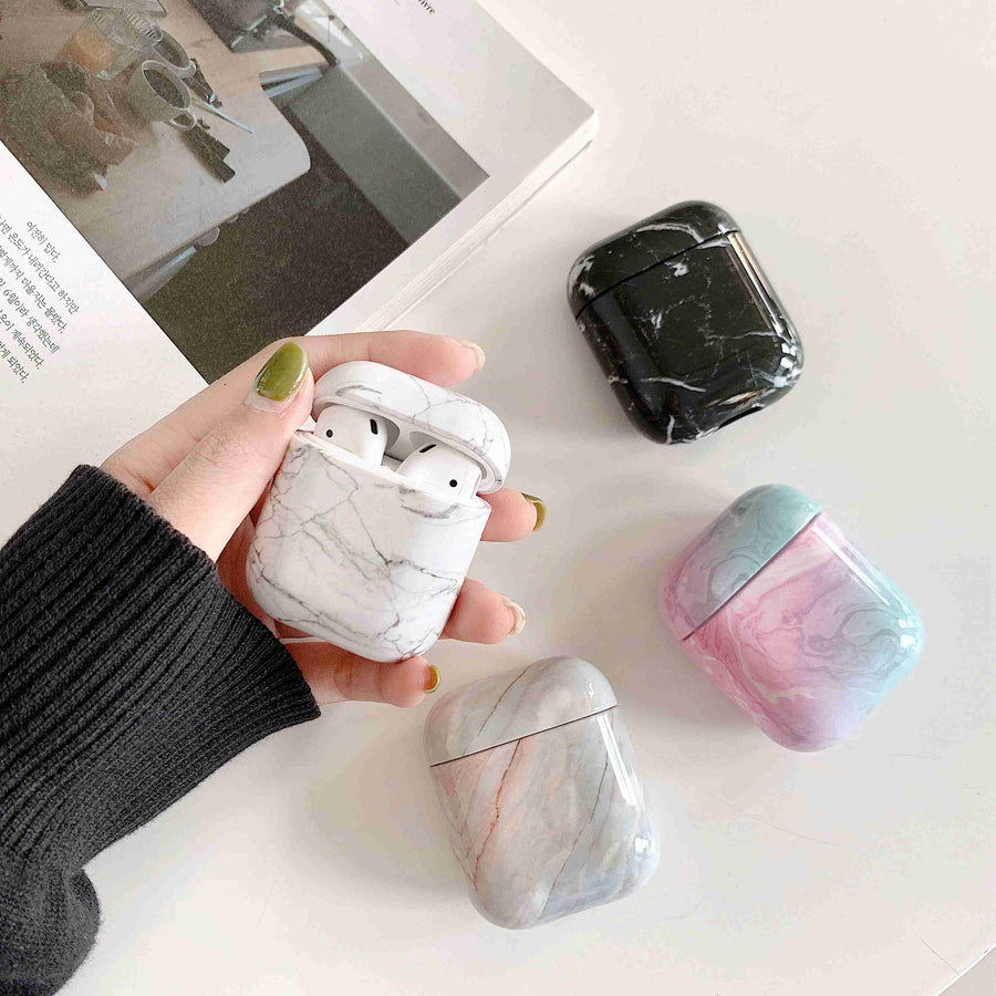 Airpods Case Marble Cute Cover For Apple Airpods 2 1
