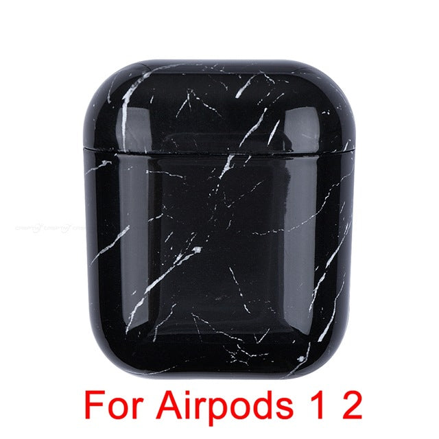 Marble Pattern Earphone Case For Airpods 1 2