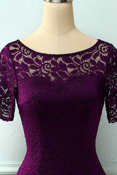 Grape Bodycon Spitzenkleid