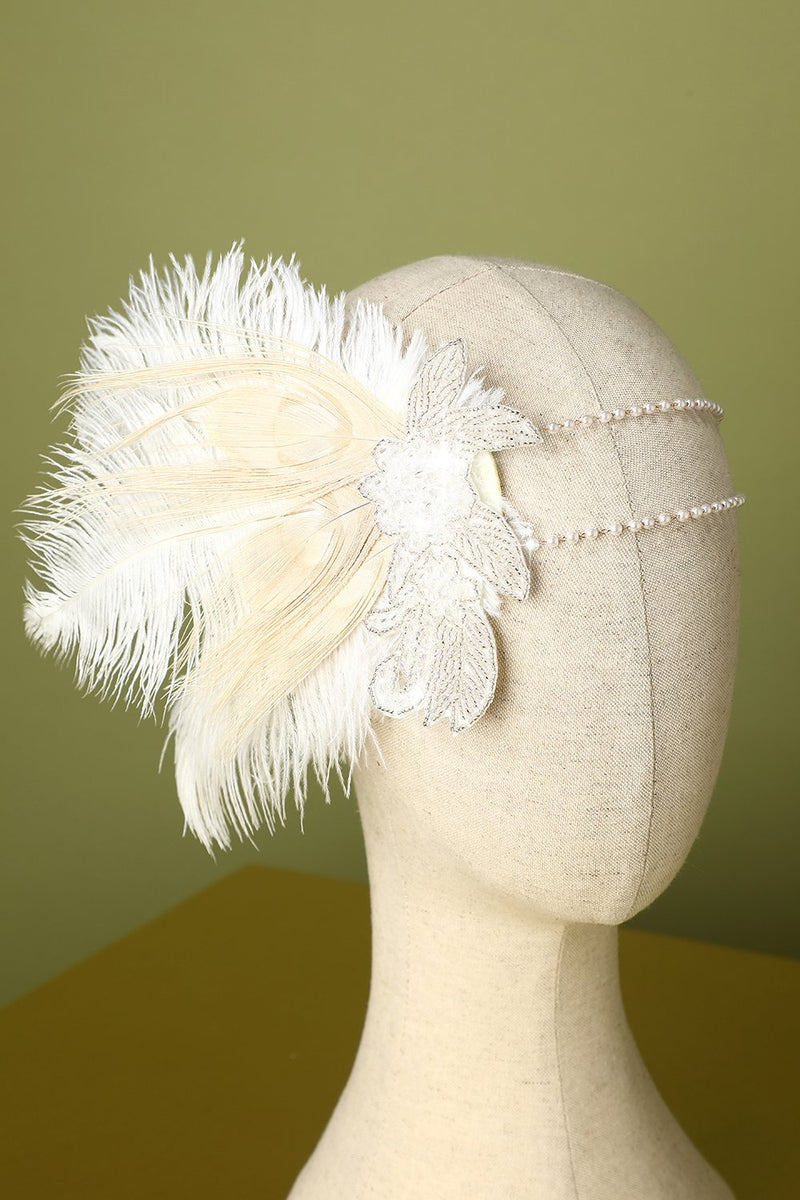 Laden Sie das Bild in den Galerie-Viewer, 1920er Feder Pailletten Strass Flapper Stirnband