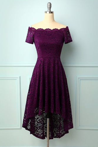 Grape Off-die-Schulter Kleid