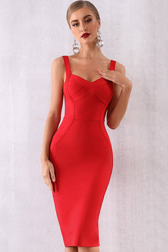 Rotes Cocktail Party Bodycon Kleid