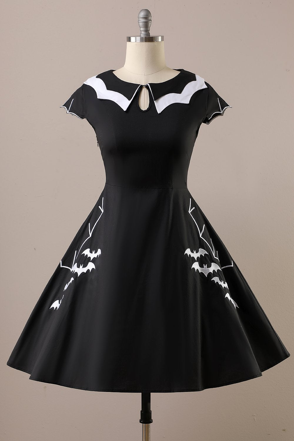 Halloween Fledermaus Print Kleid
