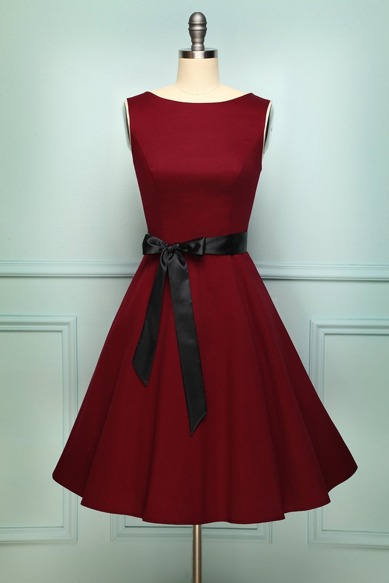 Laden Sie das Bild in den Galerie-Viewer, Burgundy Swing Dress - ZAPAKA