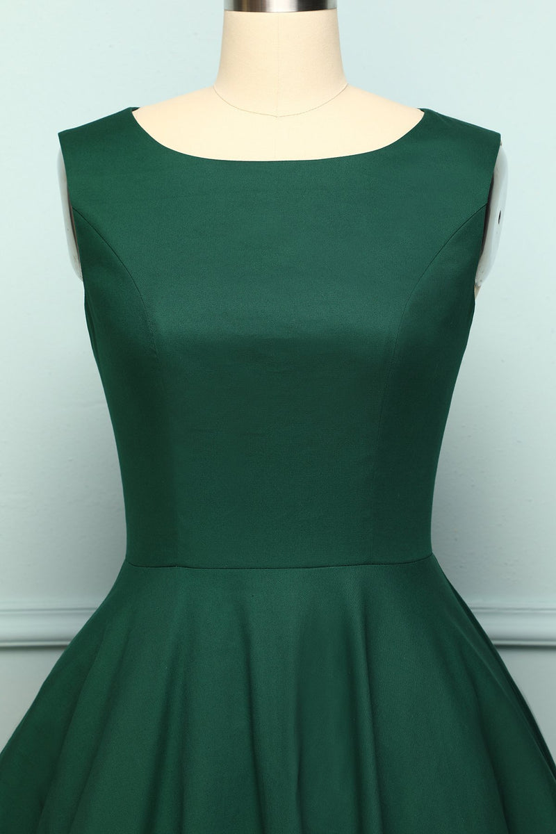 Laden Sie das Bild in den Galerie-Viewer, Dark Green Vintage Dress - ZAPAKA