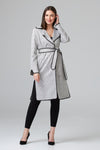 JOSEPH RIBKOFF BLK/WHITE TRENCH COAT