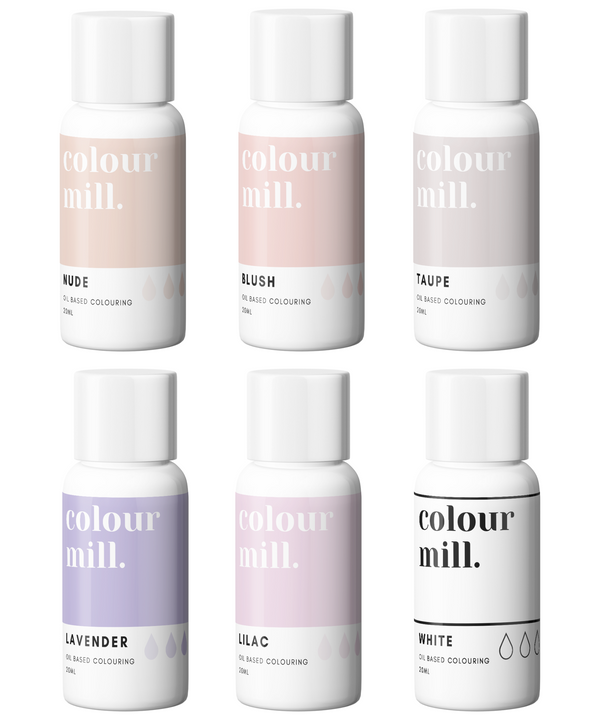 Oil Based Colouring 20ml 6 Pack Nude