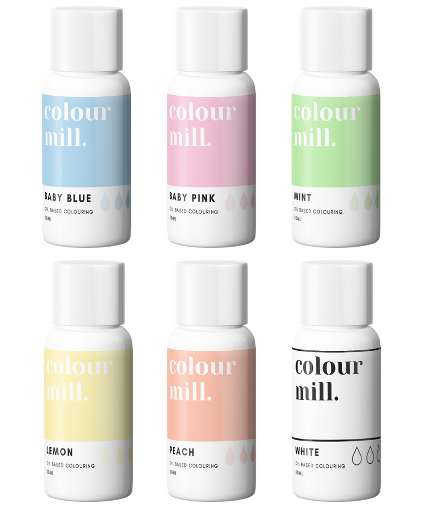 Oil Based Colouring 20ml 6 Pack Pastel