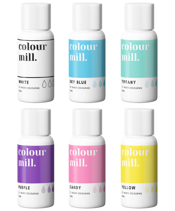 Oil Based Colouring 20ml 6 Pack Rainbow