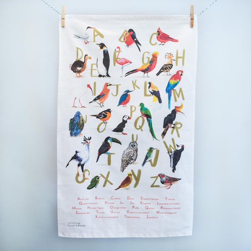 Sarah Edmonds Illustration - Avian Alphabet Tea Towel
