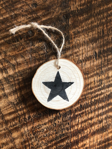 Natural Wooden Tree decorations - Star