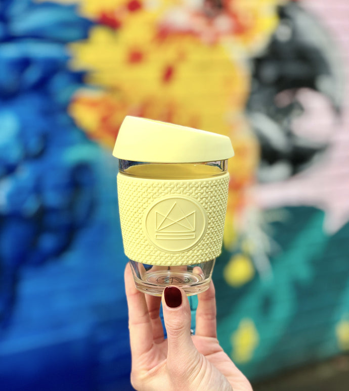 Neon Kactus Reusable Coffee Cup - Yellow