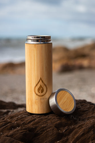 Sweet Bamboo laser engraved reusable bottle
