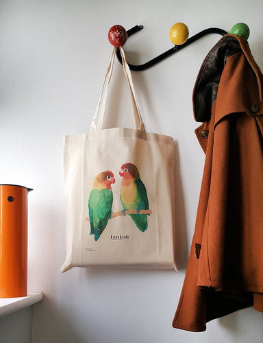 Sarah Edmonds Love birds tote bag