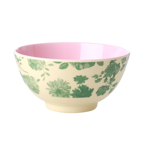 Melamine - Bowl - Green Rose