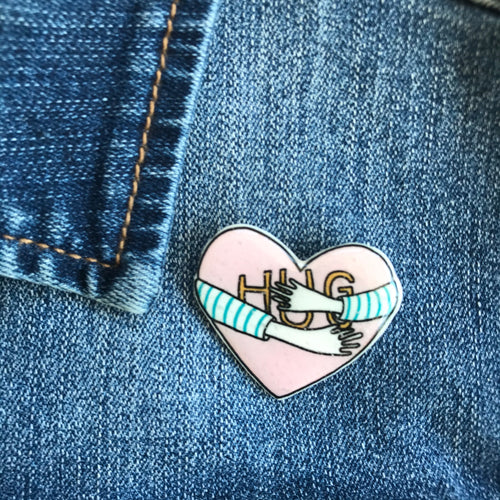 Hug Sister Sister Pin Badge