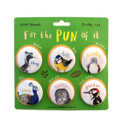 Sarah Edmonds Illustration - Pun Badges