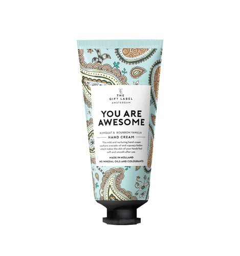 The Gift Label - Hand Cream Tube - You Are Awesome