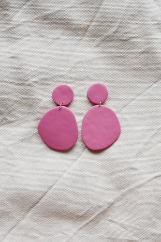 Bubblegum Pink Block Earrings