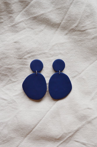 Block Earrings Royal Blue
