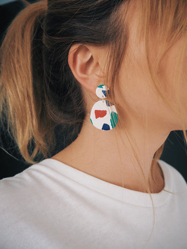 Patch Abstract Earrings