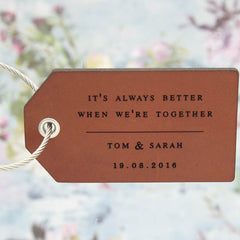 Leather Luggage Tag with Lyrics