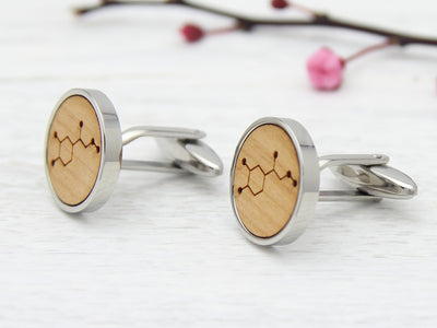 Cherry Wood Cuff Links for Sportsman
