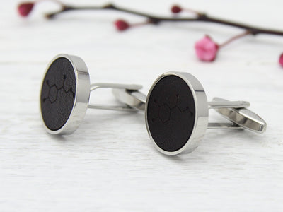 Adrenaline Cufflinks - Leather
