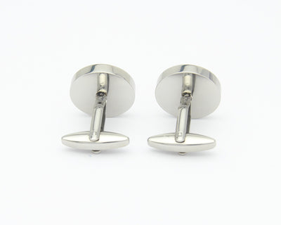 Back of Adrenaline Leather Cuff Links
