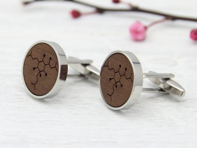 Beer Walnut Wood Cuff Links