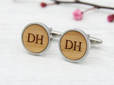 Engraved Cuff Links with Initials