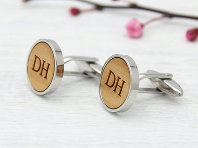 Customised Cufflinks with His Initials
