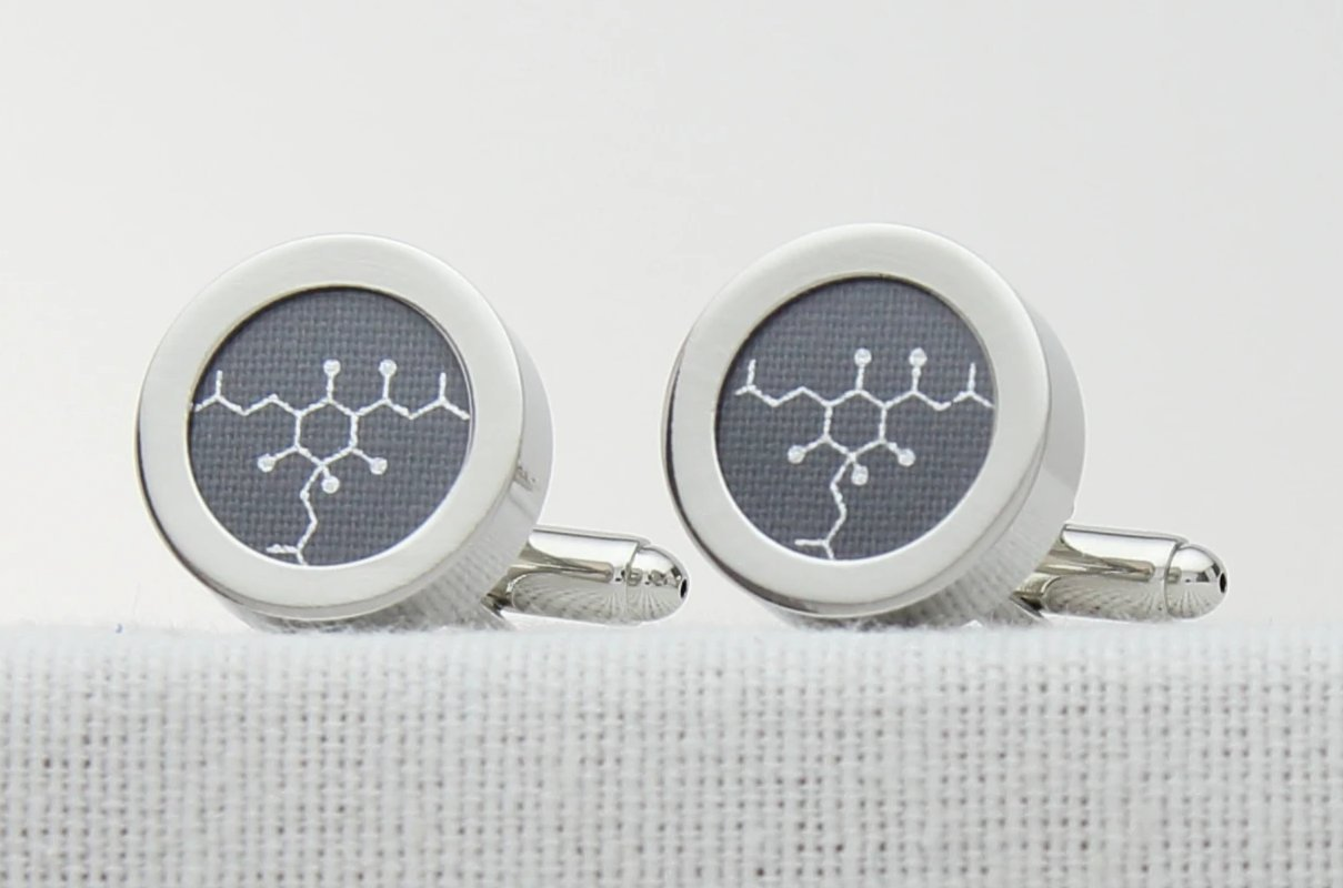 Grey Cotton Anniversary Beer Cufflinks