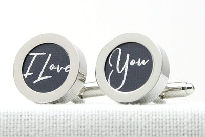 I Love You Cufflinks - Cotton