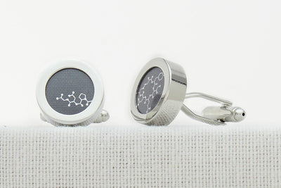 Grey cotton anniversary oxytocin cufflinks
