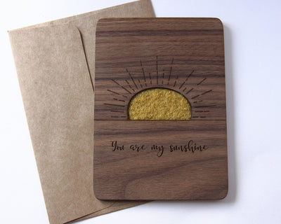 You are my sunshine wood card at Olive Mai
