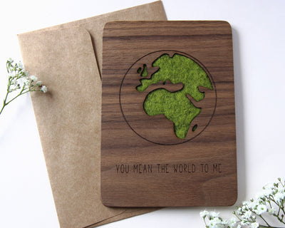 Wood card with envelope
