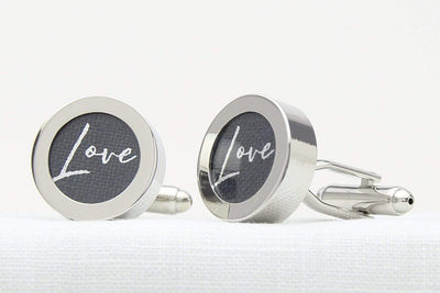 Linen Cufflinks for 4th wedding anniversary