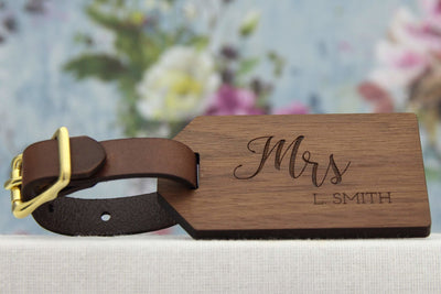 Luggage tag for Her - perfect 5th anniversary gift
