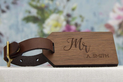 Luggage tag for Him - perfect wedding gift for couple