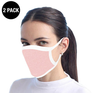 Pink Reusable Cotton Face Mask - 2 Pack
