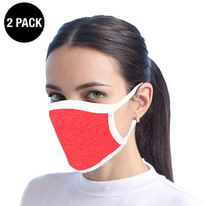 Red Reusable Cotton Face Mask - 2 Pack