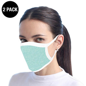 Teal Reusable Cotton Face Mask - 2 Pack
