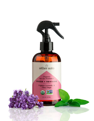 Fresh + Reviving - Organic Lavender and Sage Car Air Freshener and Deodorizer - Aether Auto
