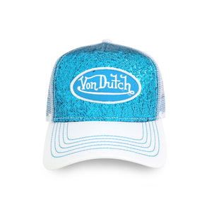 BLUE SEQUIN TRUCKER